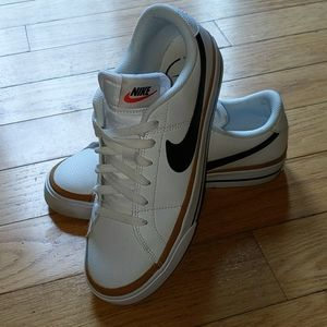 Nike court legacy white leather sneakers